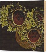 Sunflower Decor 10 Wood Print