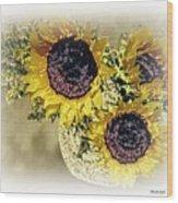 Sunflower Decor 9 Wood Print