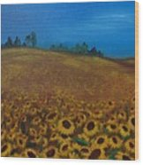 Sunflower Field 3 Wood Print
