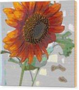 Sunflower Fun II Wood Print