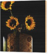 Sunflower Galore Wood Print