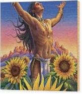 Sunflower - Glorious Success Wood Print by Anne Wertheim