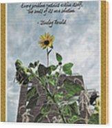 Sunflower Inspiration Wood Print