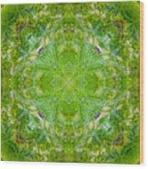 Sunflower Mandala Wood Print