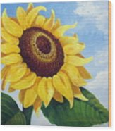 Sunflower Moment Wood Print