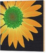 Sunflower Mosaic 1 Wood Print