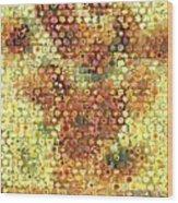 Sunflower Mosaic Wood Print
