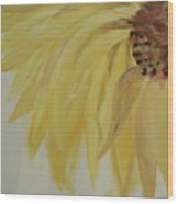 Sunflower Movement Wood Print