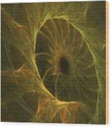 Sunflower Nebula Wood Print