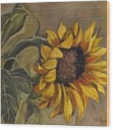 Sunflower Nod Wood Print