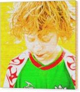 Sunflower Soccer Association Wood Print