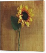 Sunflower Standing Wood Print