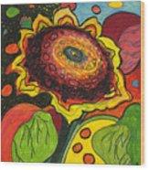 Sunflower Surprise Wood Print by Jennifer Lommers