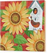 Sunflower Surprise Wood Print