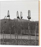Sunflower Swingset Wood Print