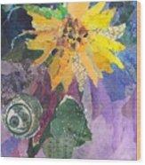 Sunflower Tall Wood Print