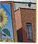 Sunflower Town Wood Print
