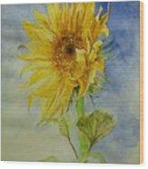Sunflower Tribute To Van Gogh Wood Print