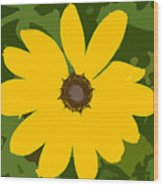 Sunflower Work Number 3 Wood Print