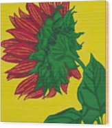Sunflower Yellow Wood Print