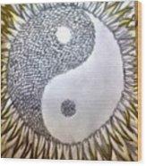 Sunflower Zen Wood Print