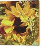 Sunflower1 Wood Print