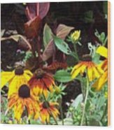 Sunflowerland Wood Print