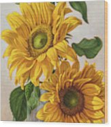 Sunflowers 1 Wood Print