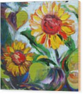 Sunflowers 10 Wood Print