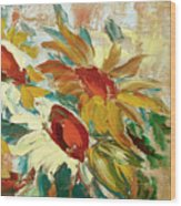 Sunflowers 16 Wood Print