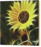 Sunflowers-5200-fractal Wood Print