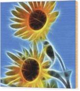 Sunflowers-5246-fractal Wood Print
