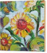 Sunflowers 6 Wood Print