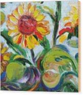 Sunflowers 9 Wood Print