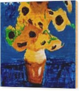 Sunflowers After Vincent Van Gogh Wood Print