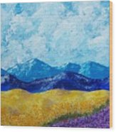 Sunflowers And Lavender In Provence Wood Print