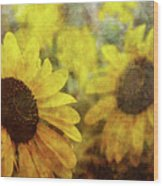 Sunflowers And Water Spots 2773 Idp_2 Wood Print