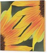 Sunflowers Corners Wood Print