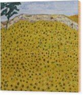 Sunflowers Field 1998. Wood Print