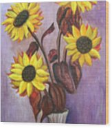 Sunflowers For My Daughter Wood Print