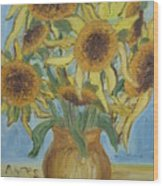 Sunflowers II. Wood Print
