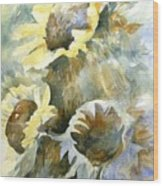Sunflowers Ill Wood Print