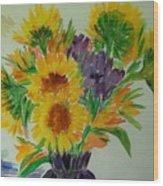 Sunflowers Wood Print