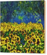 Sunflowers No2 Wood Print