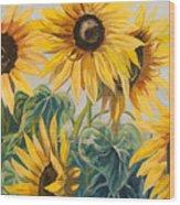 Sunflowers Part 2 Wood Print