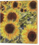 Sunflowers Summer Van Gogh Wood Print