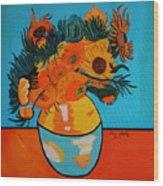 Sunflowers Van Gogh Wood Print