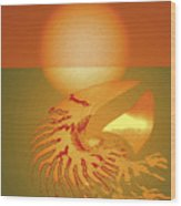 Sungazing Wood Print by Eleni Mac Synodinos