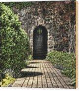 Sunken Garden Doorway Wood Print