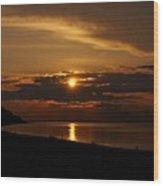 Sunken Sunset Wood Print